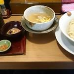 taishiosobatouka - 宇和島鯛つけ麺(鯛茶漬けセット)。