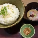 taishiosobatouka - 鯛茶漬け(before)。