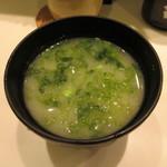 魚がし日本一 - おみそ汁(海苔) 100円