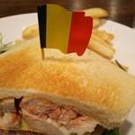 80638441 - トーストの上にはベルギーの国旗