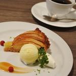 マコアコーヒー - 本日のスイーツの「りんごのタルト」550円