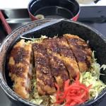 箱館山レストラン・第2ヒュッテ - ソースカツ丼これが名物らしいです。1100円しますが・・・