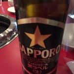 ホルモン・焼肉 キムチ - 瓶ビールで乾杯