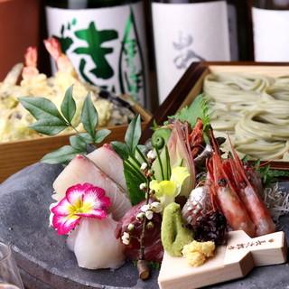 ◇豪華鮮魚盛りと新潟地酒の数々◇