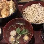 更科 - 天丼セット ¥950-