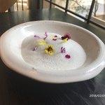 80656537 - デザート:★苺、稲藁のブランマンジェ