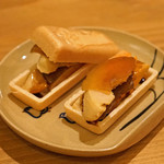 botan - なめらかあん肝の奈良漬サンド