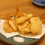 botan - かさご と ほたて の天ぷら
