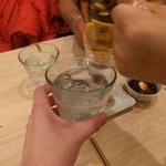 きづなすし - 白波ロックでカンパーイ!勝利の美酒( ̄ー ̄)ニヤリ