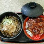 8067963 - ソースカツ丼&おろしそば(680円)(2011/01/10)
