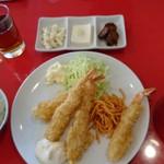 館山食堂 - 海老フライ定食1000円也
