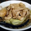 麺屋わっしょい - 料理写真:【男の根性黒醤油 + 肉男盛 + 煮玉子】¥799 + ¥216 + ¥162