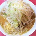 ラーメン二郎 - 小ラーメン+ヤサイマシニンニクマシマシ