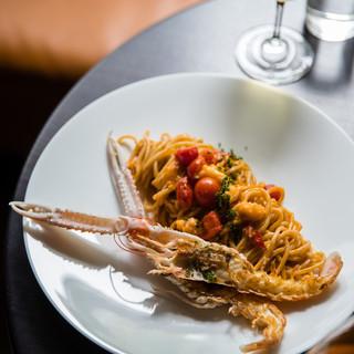 【PastaScampi】スパゲッティーニトマト手長エビ