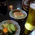 とんかつ翁 - ビール 小鉢