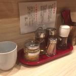 麺屋 音 別邸 - 内観(カウンター上)