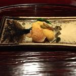 奈良 而今 - 料理写真:赤貝と蒸鮑