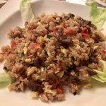 コラソン・ラティーノ - 「チャウファ」(1100円) ペルー風チャーハン。野菜と牛肉がしっかり入り、味付けは優しい。辛くないので、うちの2歳児も喜んで食べてました。