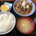 食堂 なすの屋 - ナス肉炒め(770円)