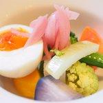 オー・グルマン - 岩手広田の牡蠣ラーメン の前菜