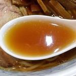 中華そば丸信 - 料理写真:旨さ染み渡るスープ