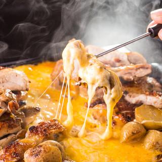 ◆2大・名物:チーズタッカルビ×豪快ちゃんこ鍋&極みモツ鍋◆