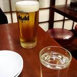80687391 - ママンの生ビール♡                       最後まで良く冷えたままの美味しいビールだったそうです (・ω<)