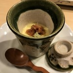 80688328 - 梅肉とわさびがのった茶碗蒸し