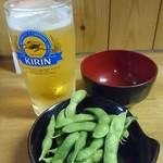 80688654 - 枝豆と生ビール(キリンハートランド)