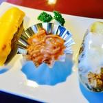 函館山ロープウェイ山頂レストランジェノバ - メークインポテト〜塩辛添え〜