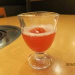 かにの華 - 食前酢:フルーツ酢(いちご)