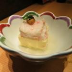かにの華 - 前菜:蟹身豆腐  雲丹がのる