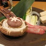 かにの華 - 鍋物:ズワイカニのしゃぶしゃぶ