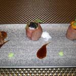 北新地 宙空 そらそら - 炙り肉寿司3種