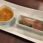 ロルマ アッティーヴァ - ランチの前菜2種盛り合わせ