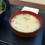 志摩の海鮮丼屋 - 【~究極の地産地消~ 糸島海鮮丼】魚のあら汁も美味~♪