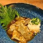 山形料理と地酒 まら - あわび肝おろしポン酢     ¥600