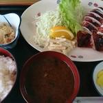 呑み喰い処 奥飛騨 - イカ焼き定食(680円)