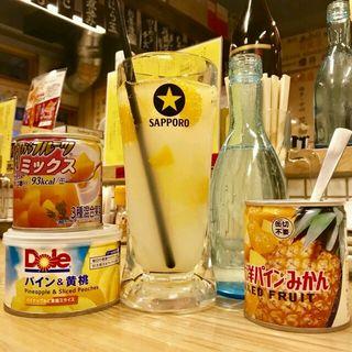 【缶詰サワー】約2〜3杯分作れて580円‼️かなり映えます♪