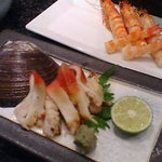 魚浜 - 車海老&ほっき焼き