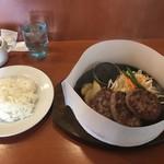 肉のはせ川 - はせ川ハンバーグ225gとライス単品で1,371円