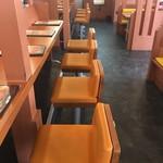 肉のはせ川 - 店内カウンター席