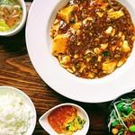 中華厨屯知 - 『マーボー豆腐ランチ』♪ドリンクバー付き♡』※お昼限定♪