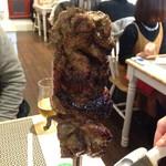 シュラスコレストラン ALEGRIA shinjuku - このような状態で、切り分けられます