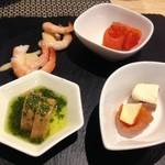 シュラスコレストラン ALEGRIA shinjuku - 旬のシーフード3種と、市田柿クリームサンド