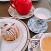月乃井 - 料理写真:モンブランとコーヒーセット