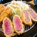 串亭 - 牛カツアップ