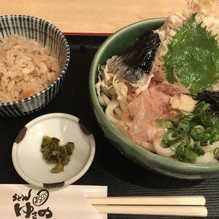 うどん ゆきの - 料理写真:天ぶっかけ定食・冷(980円)