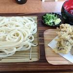 本格手打うどん 和乃家 - さらしうどん     ¥500 、   舞茸天ぷら     ¥200