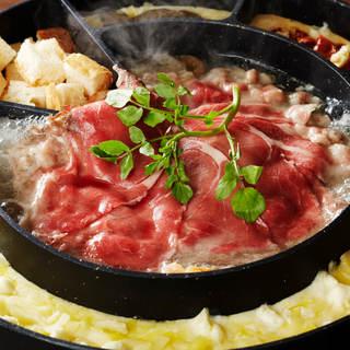【こわわりの一品②】4種チーズの肉しゃぶチーズフォンデュ鍋
